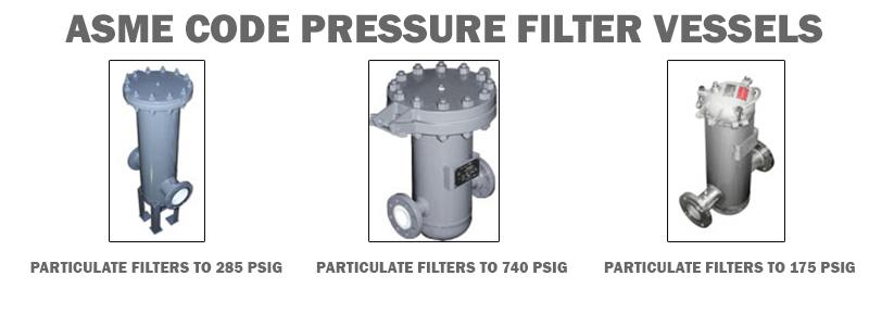 ASME Code Pressure Filter Vessels